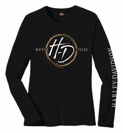 H-D Motorclothes Harley-Davidson Damen Longsleeve Brushed HD schwarz  - R0041152V
