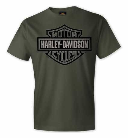 H-D Motorclothes Harley-Davidson T-Shirt Bar & Shield oliv grün  - R004206V