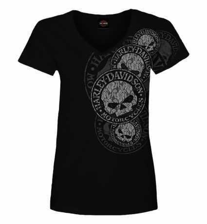 H-D Motorclothes Harley-Davidson Damen T-Shirt Lacey G II Skull schwarz  - R0042132V