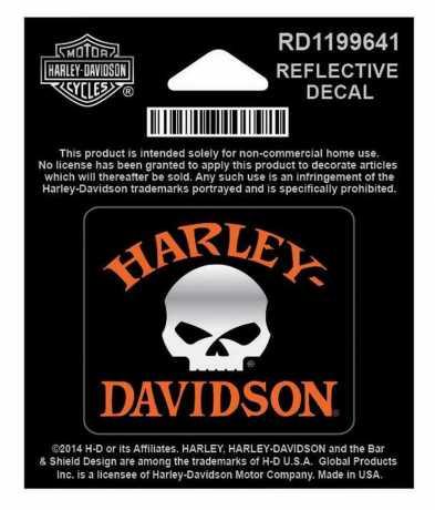 H-D Motorclothes Harley-Davidson Aufkleber Skull XS  - RD1199641