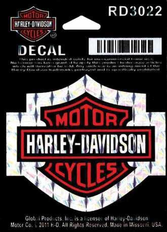 H-D Motorclothes Harley-Davidson Aufkleber Bar & Shield Refractive, S  - RD3022