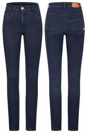 Rokker Rokkertech High Waist women´s Jeans Dark Blue  - ROK2413