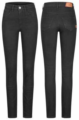 Rokker Rokkertech High Waist Damen Jeans schwarz 30 | 32 - 2414L32W30