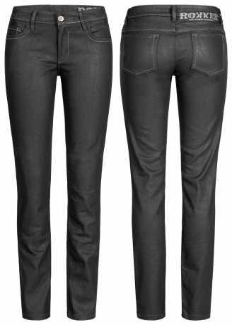 Rokker Rokkertech Jeans Lady schwarz  - 2411V