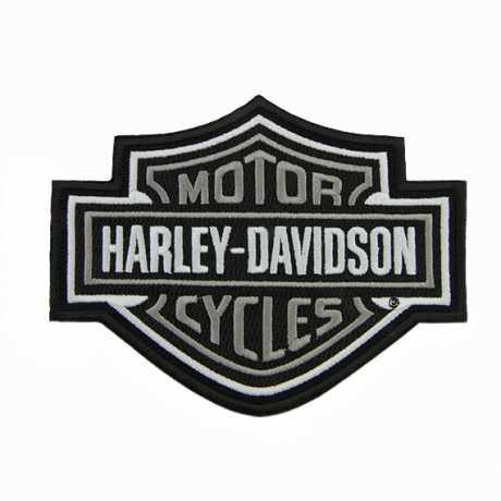 H-D Motorclothes Harley-Davidson Aufnäher Bar & Shield grau  - SA8011468