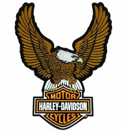 H-D Motorclothes Harley-Davidson Aufnäher Eagle Bar & Shield braun/orange  - SA8011611