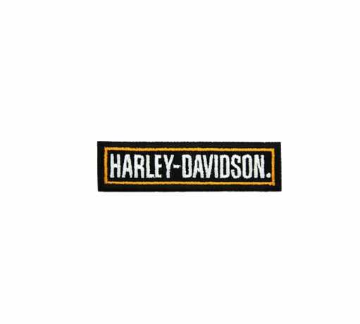 H-D Motorclothes Harley-Davidson Aufnäher Schriftzug schwarz/orange  - SA8011642