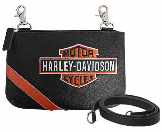 H-D Motorclothes Harley-Davidson Hip Bag Tasche Vintage Bar & Shield schwarz & orange  - VBS6243