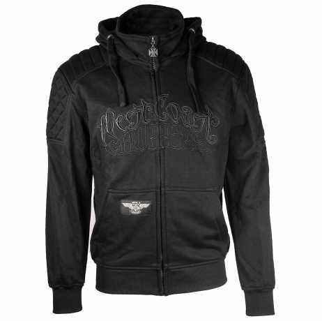 West Coast Choppers West Coast Choppers Por Vida Zip Hoodie Black XL - 966434