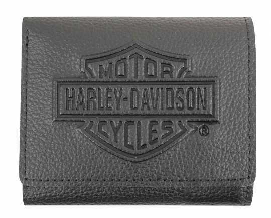 H-D Motorclothes Harley-Davidson Tri-Fold Wallet Bar & Shield black  - XML3542
