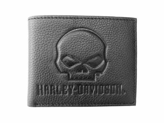 H-D Motorclothes Harley-Davidson Geldbörse Bi-Fold Skull schwarz  - XML4794