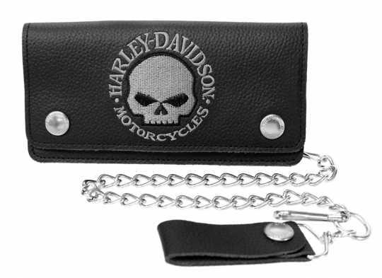 H-D Motorclothes Harley-Davidson Biker Wallet Willie G. Skull, tall  - XML6194