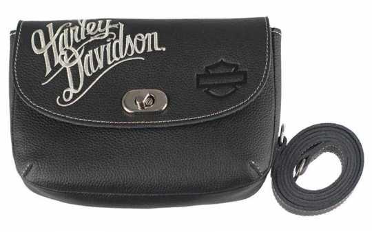 H-D Motorclothes Harley-Davidson Clip Bag Cream Font Embroidery  - ZWL3862