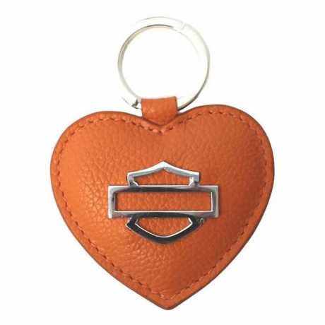 H-D Motorclothes Harley-Davidson Key Fob Heart Bar & Shield orange  - ZWL5898