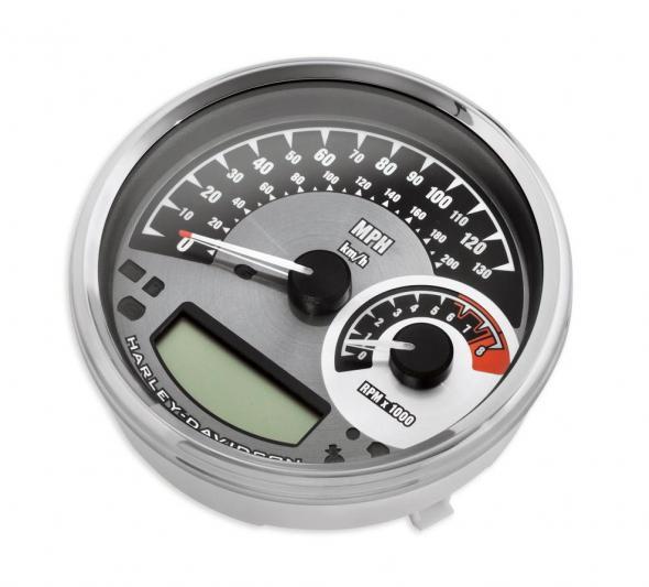 """Analog Speedometer/Tachometer - 5"""" MPH/km/h"""