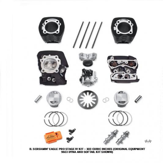 Screamin Eagle Pro Stage IV 103 Kit - black
