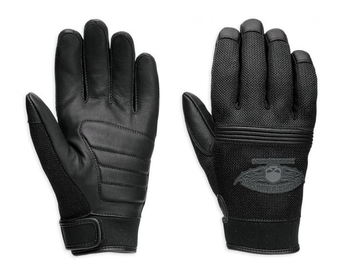 98278 14vm harley davidson handschuhe winged schwarz im. Black Bedroom Furniture Sets. Home Design Ideas