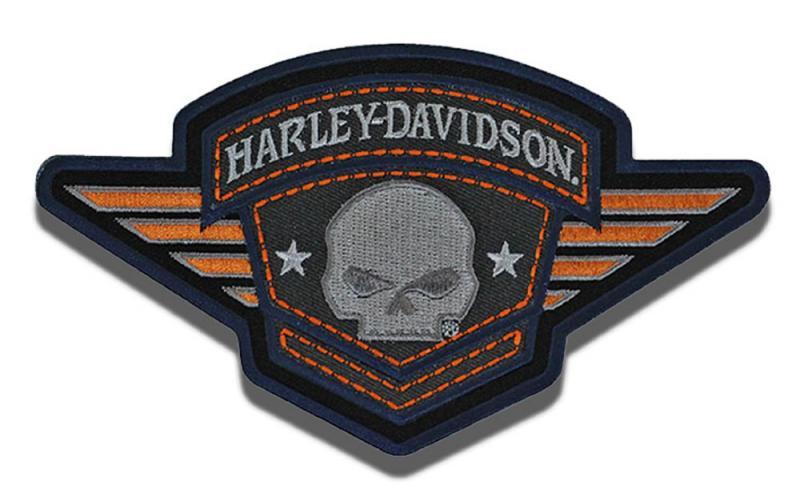 harley davidson skull badge aufn her im thunderbike shop. Black Bedroom Furniture Sets. Home Design Ideas