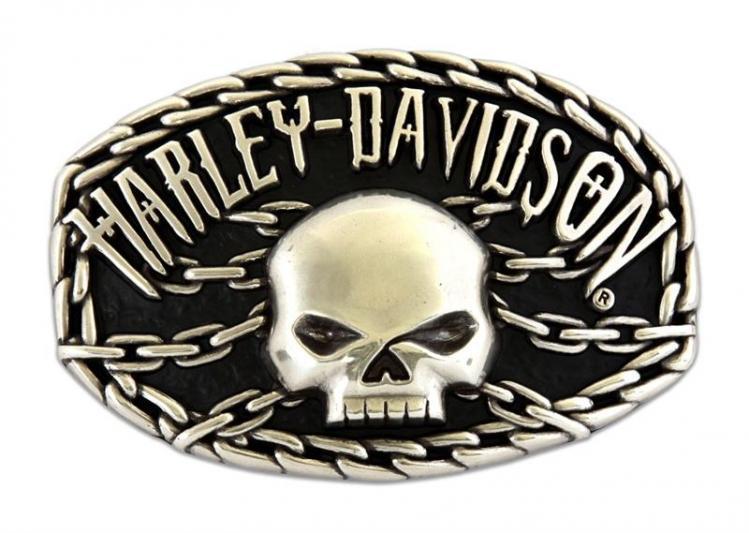 harley davidson g rtelschnalle skull chain hdmbu10074. Black Bedroom Furniture Sets. Home Design Ideas