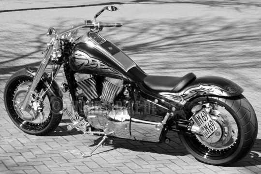 Thunderbike Einzelsitz Kunstleder schwarz  - 11-01-170