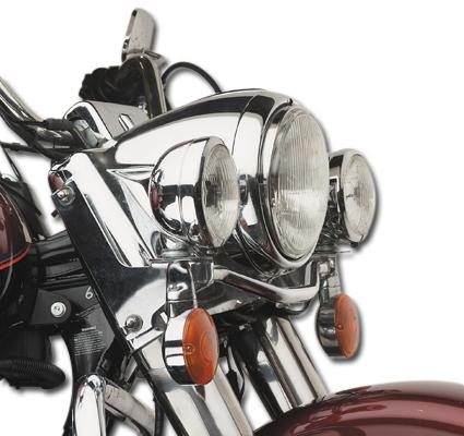 Custom Chrome Chrom Lampenzierring  - 15-552