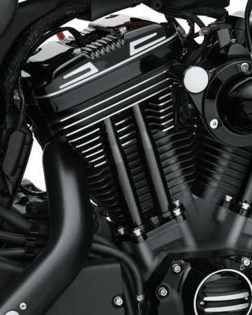 Harley-Davidson Pushrod Cover Kit - Gloss Black  - 17900083