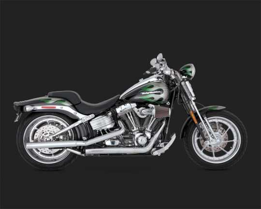 vance hines straightshots hs slip ons chrom f r softail. Black Bedroom Furniture Sets. Home Design Ideas