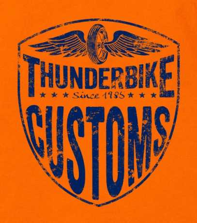 Thunderbike Clothing Thunderbike Kids T-Shirt Speedbone Orange  - 19-01-11611V