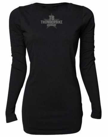 Thunderbike Clothing Thunderbike women´s Longsleeve Vintage Custom, black  - 19-10-1001V