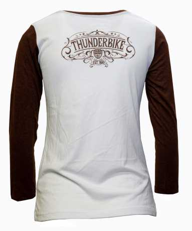 Thunderbike Clothing Thunderbike Damen Longsleeve Original weiß/rot  - 19-10-1222V