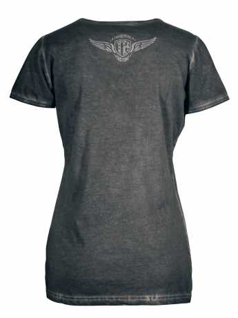 Thunderbike Clothing Thunderbike Damen T-Shirt New Custom Strass, grau  - 19-11-1013