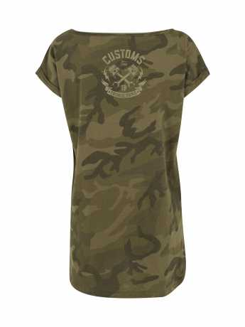 Thunderbike Clothing Thunderbike Damen T-Shirt Speed Skull Olive  - 19-11-1116V