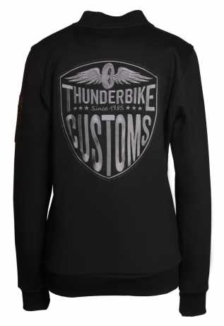 Thunderbike Clothing Thunderbike Damen Zip Sweatshirt New Custom, schwarz  - 19-20-1011V