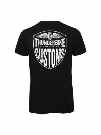 Thunderbike Clothing Thunderbike V-Neck T-Shirt New Custom black  - 19-31-1011AV