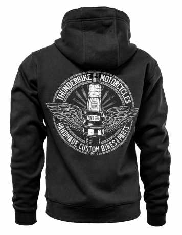 Thunderbike Clothing Thunderbike Zip Hoodie Flying Spark Plug schwarz/grau XL - 19-40-1281/002L