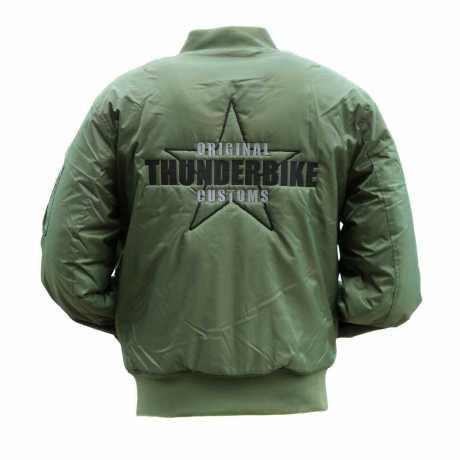 Thunderbike Clothing Thunderbike Street Bomber Jacke, oliv grün  - 19-60-060V