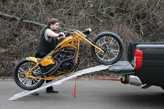 Motoprofessional Motorrad Klapprampe 44 x 239 cm / 600 kg  - 20-205