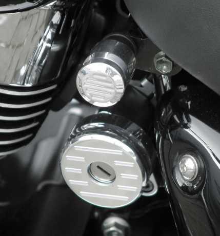 Thunderbike Choke cover alu polished Fluted - 22-01-120