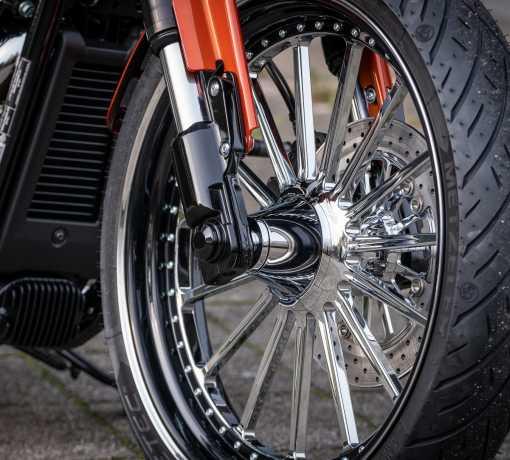 Thunderbike Front Axle Cover-Set black  - 22-74-280