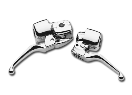 Handlebar Control Set 9/16 without Switches, chrome  - 62-7704