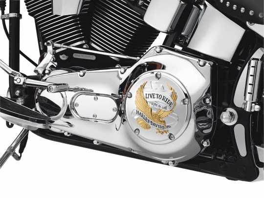 Harley-Davidson Derby Cover Live To Ride Gold  - 25340-99A