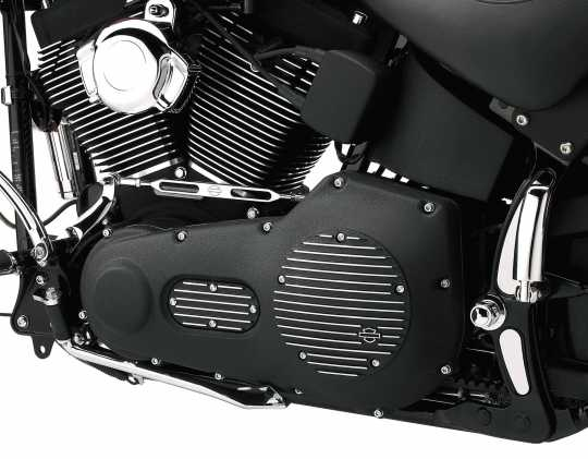Harley-Davidson Derby Cover Black Fin  - 25454-01