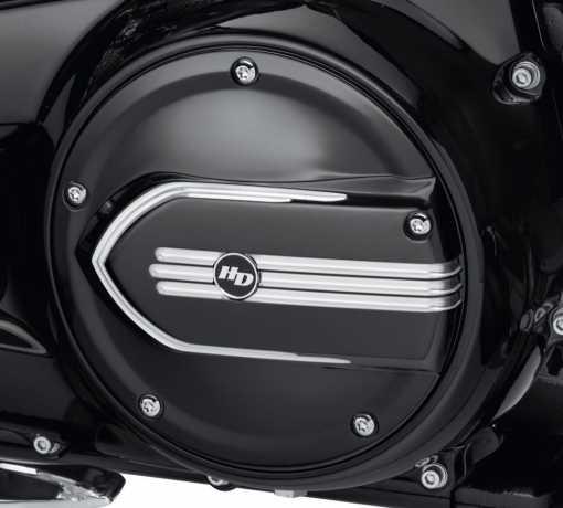 Harley-Davidson Defiance Derby Cover black cut  - 25700573