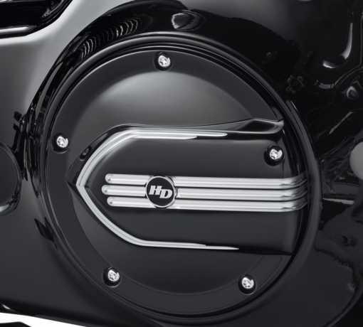 Harley-Davidson Defiance Derby Deckel schwarz cut  - 25700704