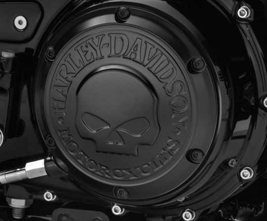 Harley-Davidson Willie G Skull Derby Cover black  - 25700744