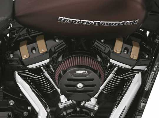 Harley-Davidson Dominion Upper Rocker Box Covers - Gloss Black with Highlighted Slots  - 25700779