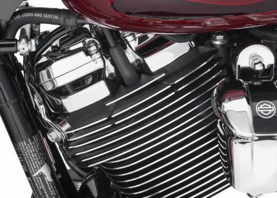 Harley-Davidson Gerippte Zündkerzen Cover, schwarz  - 25800061