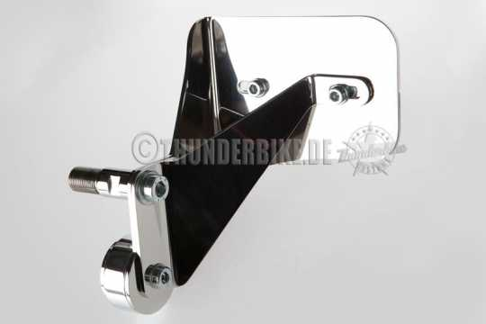 Thunderbike Side Mount Licence Plate Bracket short polished - 28-01-081
