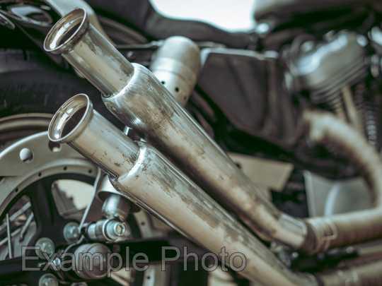 """Custom Chrome Trumpet Muffler 20"""" upswept  - 28-0905"""