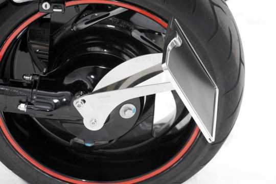 Thunderbike Side Mount Licence Plate Bracket long polished - 28-48-010